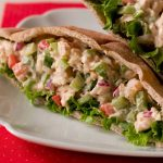 catfish salad stuffed in wheat pita pocket