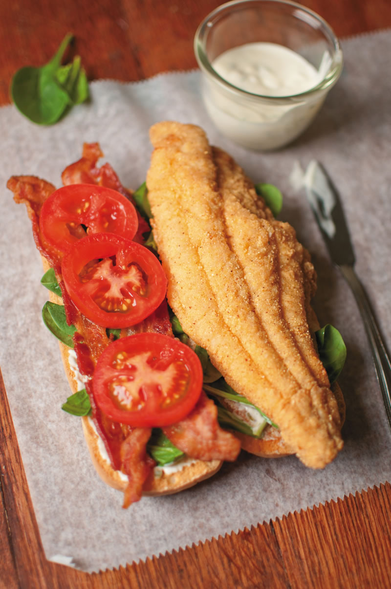 Catfish BLT with Lemon Aïoli