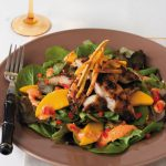 Jamaican jerk catfish salad with fresh mango and dressing
