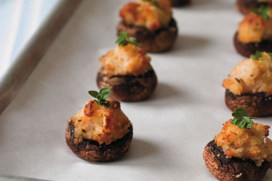 Catfish and Shrimp Stuffed Mushrooms