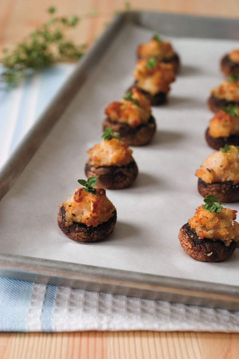 Catfish and Shrimp Stuffed Mushrooms