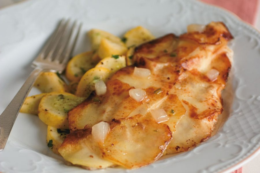 Potato-Crusted Catfish with Granny Smith's Apple and Jalapeño Glaze