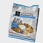 Frozen catfish nuggets product bag