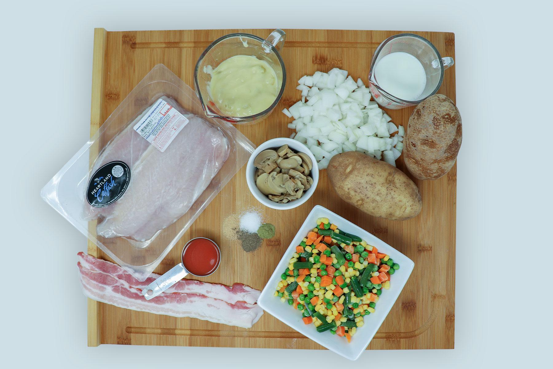 catfish stuffed baked potato ingredients