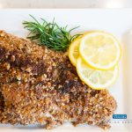 finished Pecan Crusted Catfish recipe on plate