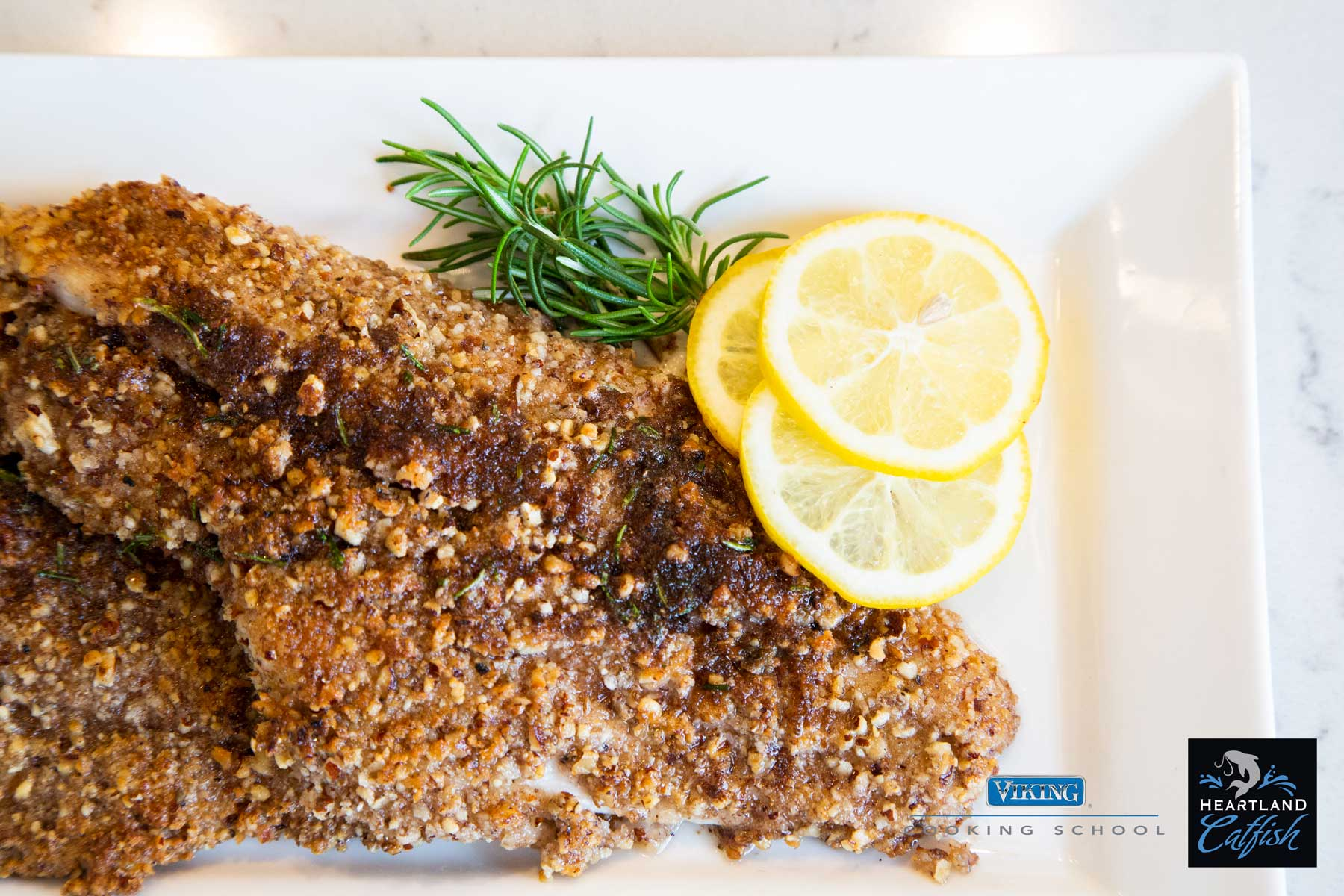 Pecan Catfish with Lemon Brown Butter Sauce