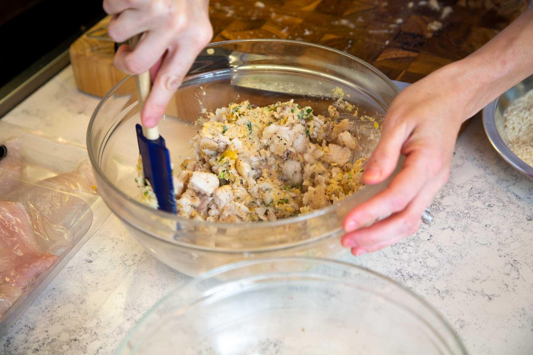 Stirring Ingredients in mixing bowl