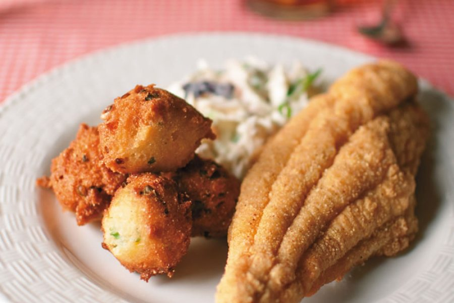 Classic Fried Catfish with Hushpuppies and Tartar Sauce