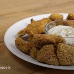 Catfish Nuggets Plated with sauce