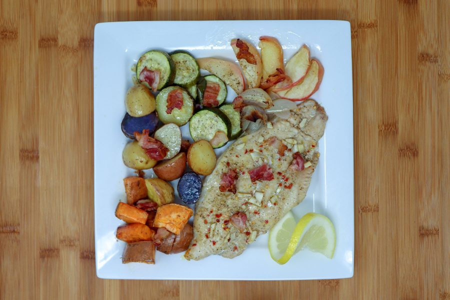 Sheet Pan Catfish with Roasted Fall Vegetables
