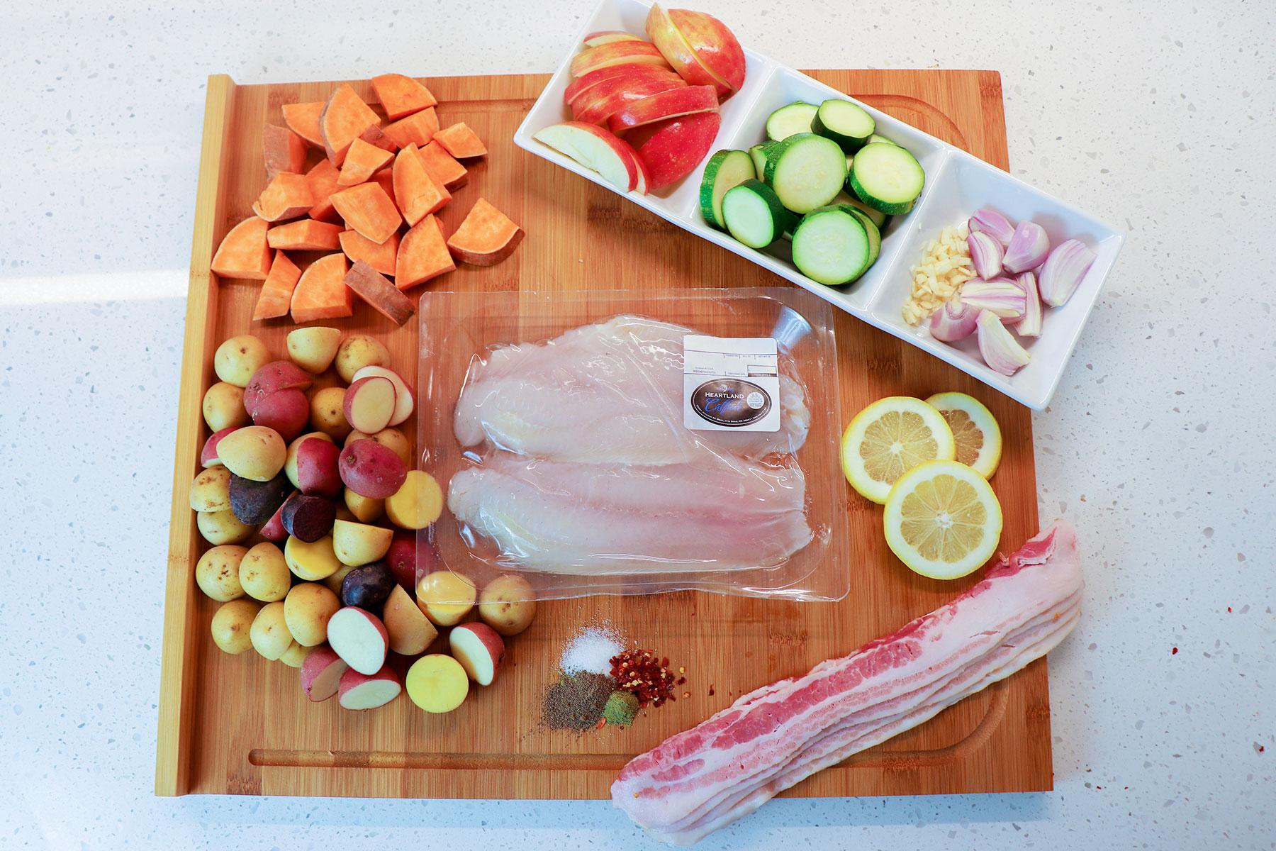 sheet pan catfish recipe ingredients