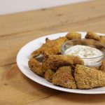 breaded Catfish Nuggets with sauce