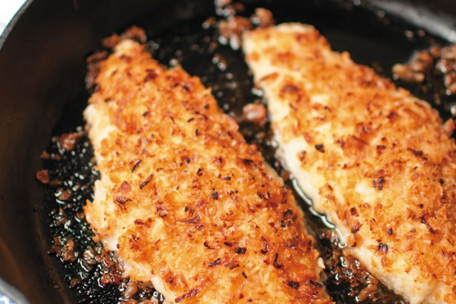 Onion-Crusted Catfish