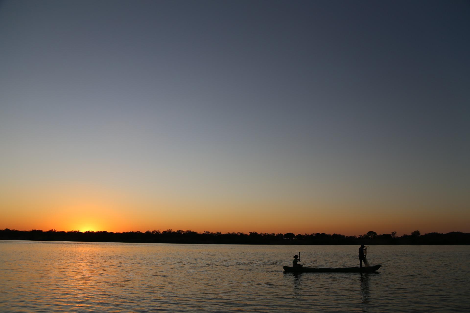 Sunset over catfish pond