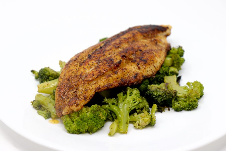 Easy Blackened Keto Catfish & Broccoli